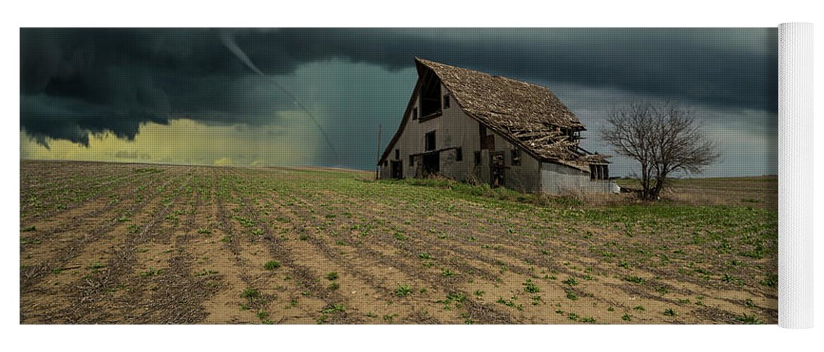 Tornado Yoga Mat featuring the photograph Doomsday by Aaron J Groen