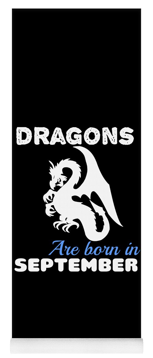 Birthday Yoga Mat featuring the digital art Dragons Are Born September by Kaylin Watchorn
