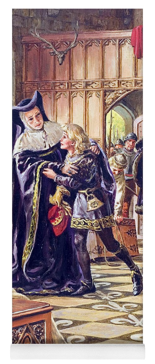Edward V (1470-83) Being Handed Over To The Duke Of Gloucester (1452-85) Princes In The Tower Yoga Mat featuring the painting Edward V Being Handed Over To The Duke Of Gloucester by Cl Doughty