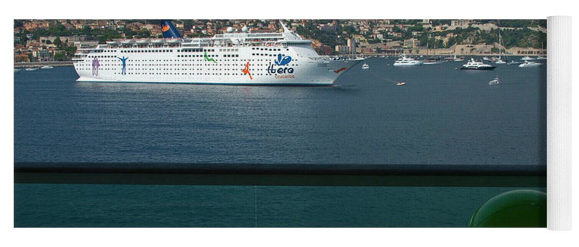 Boat Yoga Mat featuring the photograph Enjoying The French Riviera View by Richard Henne