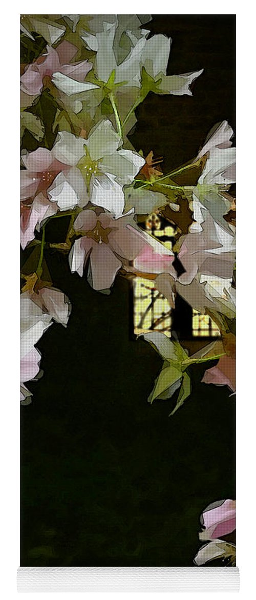 Botanical Yoga Mat featuring the digital art Ephemera by Gina Harrison