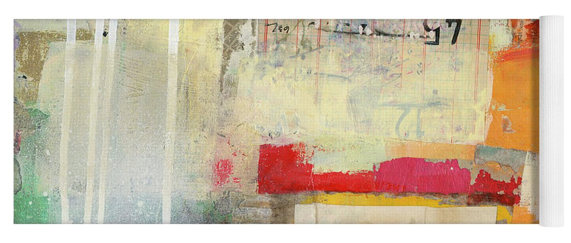 Abstract Art Yoga Mat featuring the painting Fact Check #3 by Jane Davies