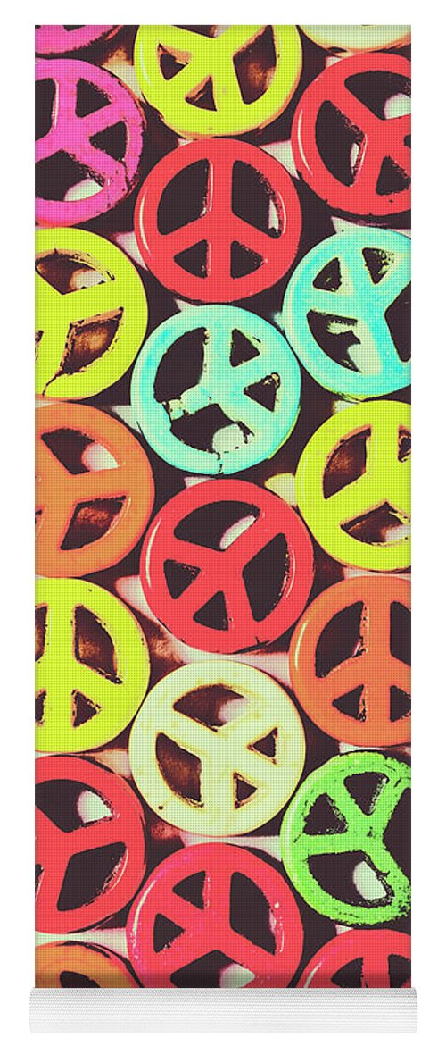Peace Yoga Mat featuring the photograph Flares Of Freedom by Jorgo Photography - Wall Art Gallery