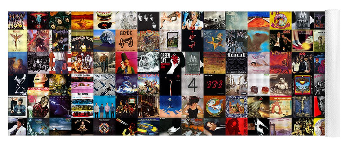 Album Covers Yoga Mat featuring the digital art Greatest Album Covers of All Time by Zapista OU