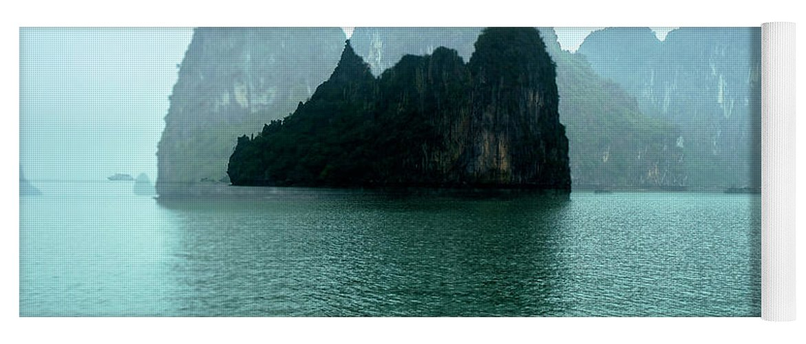 Halong Bay Yoga Mat featuring the photograph Halong Bay Mountains, Vietnam by Madeline Ellis