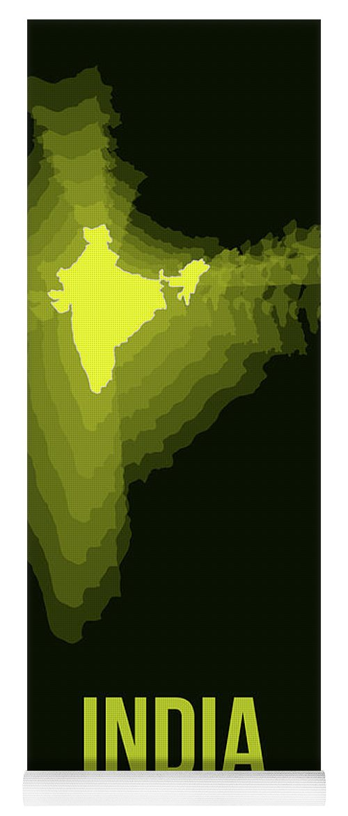 Map Of India Yoga Mat featuring the digital art India Radiant Map 2 by Naxart Studio