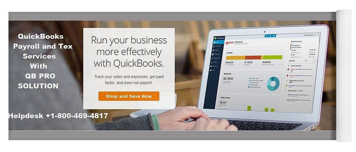 Quickbooks Payroll 2019 Yoga Mat featuring the mixed media Intuit Full Service Payroll Small Business Quickbooks Payroll Done For You by Emma