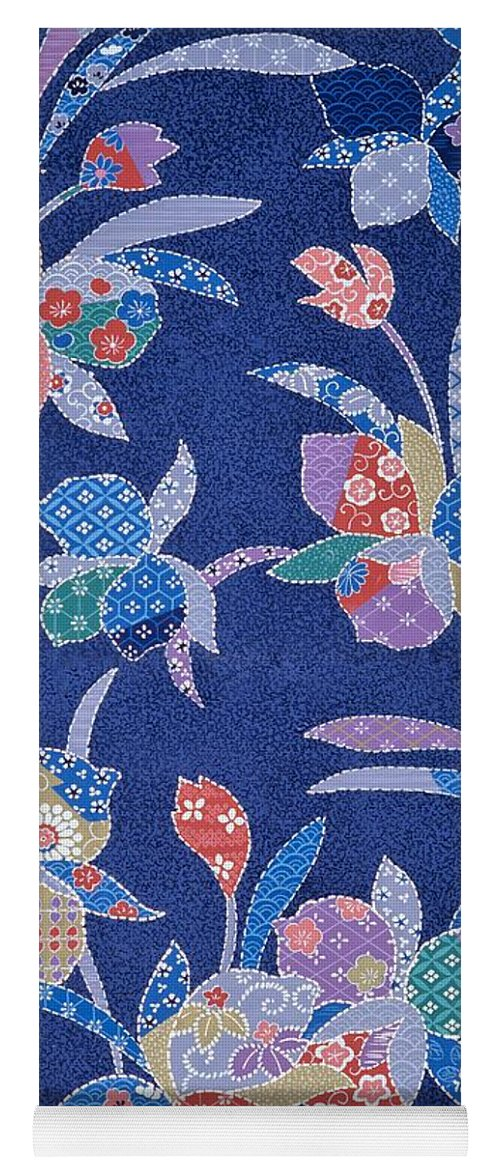 Asian Yoga Mat featuring the mixed media Japanese Modern Interior Art #77 by ArtMarketJapan