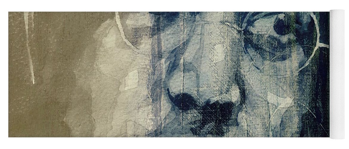The Beatles Yoga Mat featuring the painting John Lennon - Christ You Know It Ain't Easy by Paul Lovering