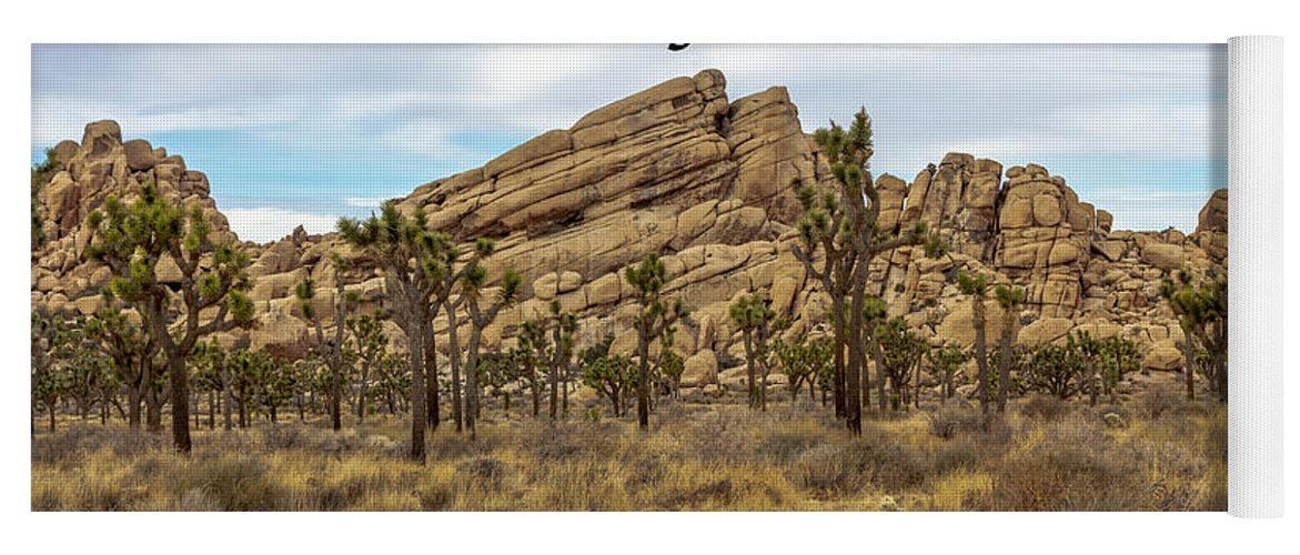 Joshua Tree National Park Yoga Mat featuring the photograph Joshua Tree National Park, California 03 by G Matthew Laughton