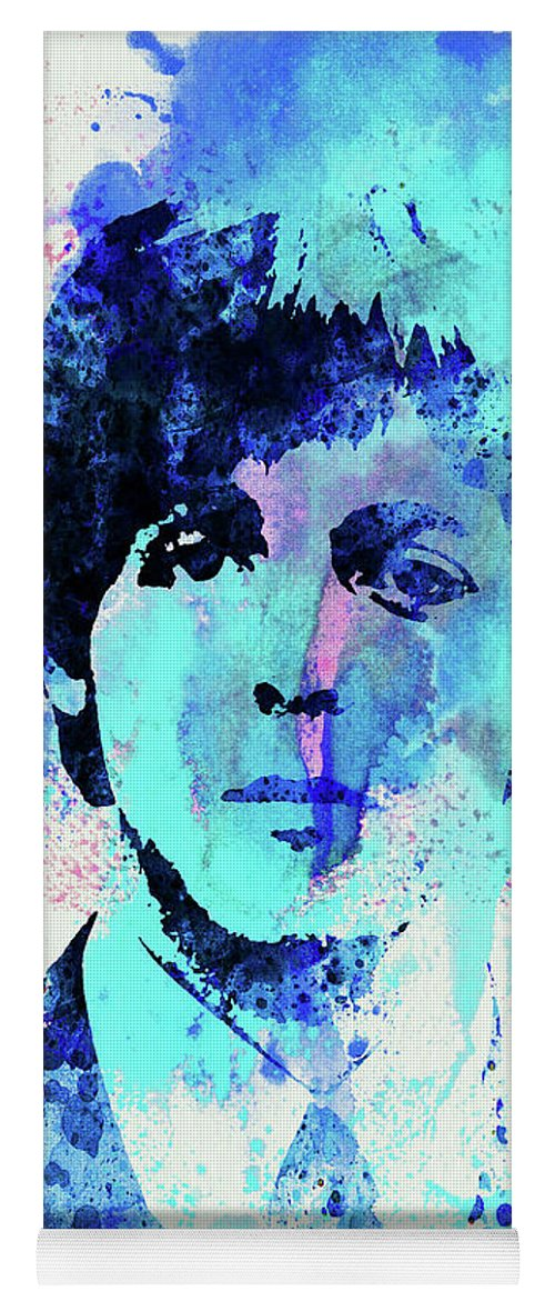 Beatles Yoga Mat featuring the mixed media Legendary Paul Watercolor by Naxart Studio