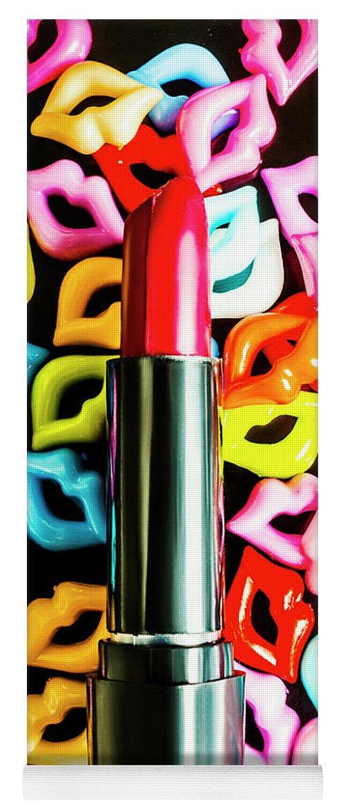 Lipstick Yoga Mat featuring the photograph Lipstick Lips by Jorgo Photography - Wall Art Gallery