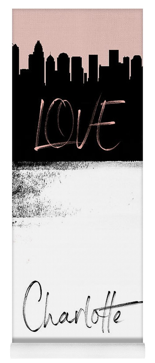 Charlotte Yoga Mat featuring the mixed media Love Charlotte by Naxart Studio