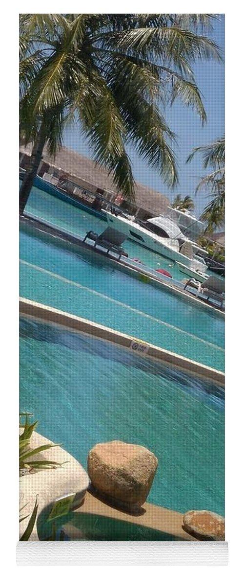 Water Yoga Mat featuring the photograph Maldivies by Aswini Moraikat Surendran