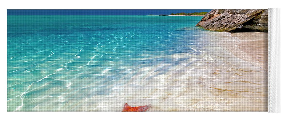 Starfish Yoga Mat featuring the photograph Middle Caicos Tranquility Awaits by Betsy Knapp