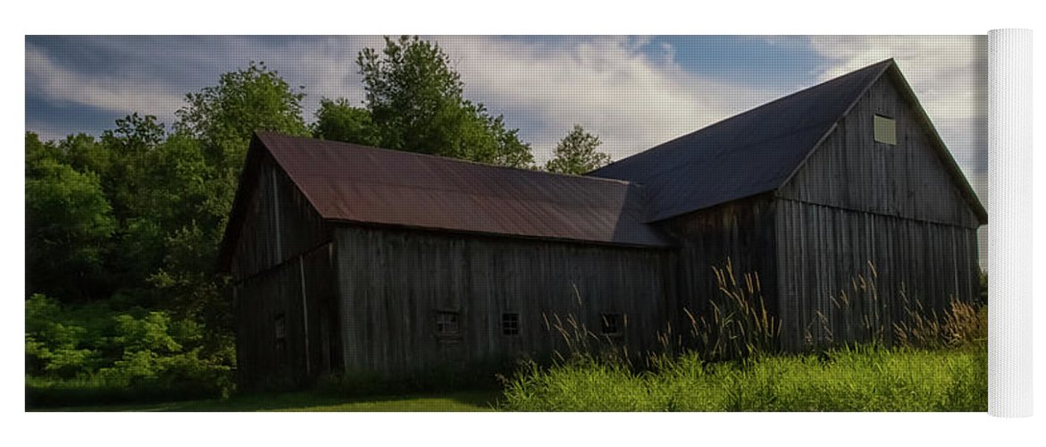 Port Yoga Mat featuring the photograph Miller Barn 5 by Heather Kenward