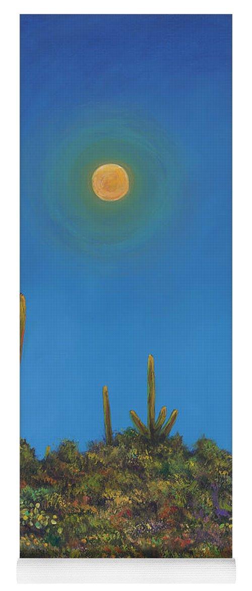 Arizona Yoga Mat featuring the painting Moonlight Serenade by Johnathan Harris