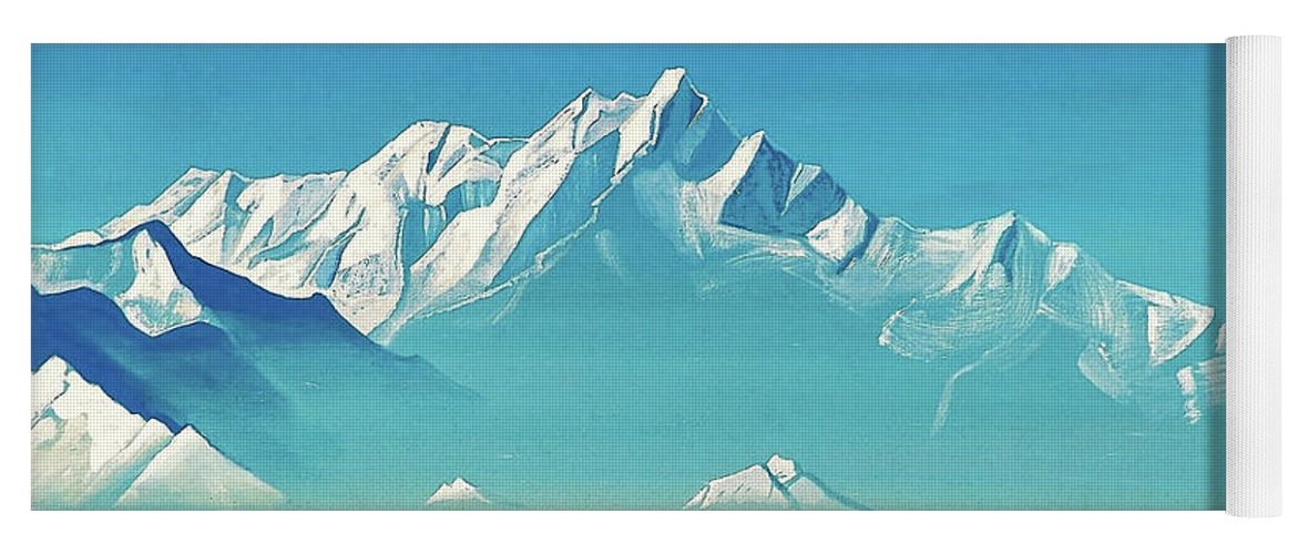 Nicholas Roerich Yoga Mat featuring the painting Mount Of Five Treasures - Digital Remastered Edition by Nicholas Roerich