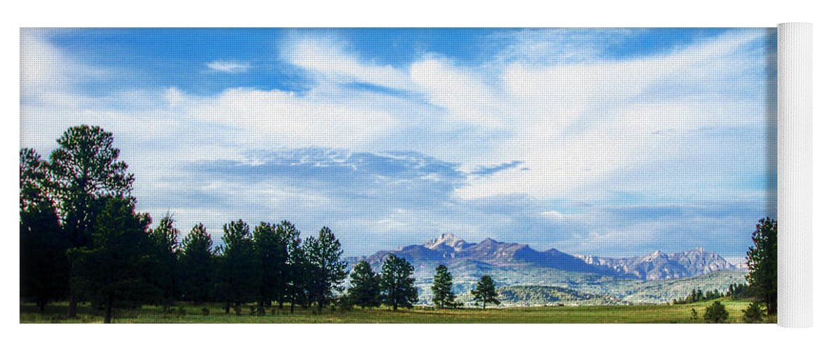 Colorado Yoga Mat featuring the photograph Mount Pagosa Meadow by Mike Braun