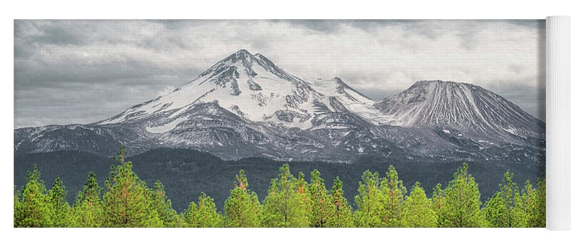 California Yoga Mat featuring the photograph Mount Shasta by Jim Thompson