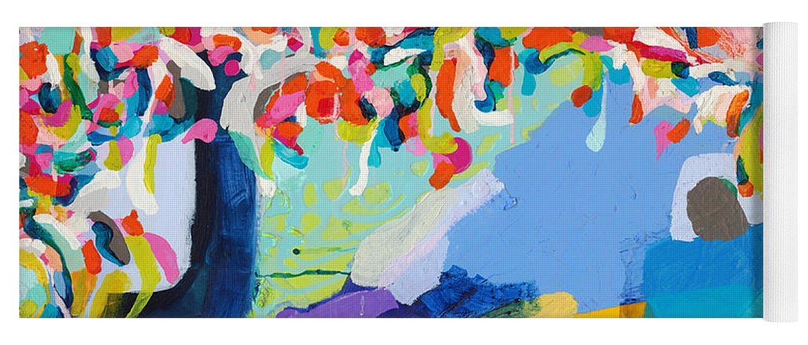 Abstract Yoga Mat featuring the painting My Vanity by Claire Desjardins