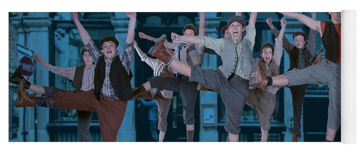 Broadway Yoga Mat featuring the photograph Newsies at the Artisan Center Theater by Alan D Smith