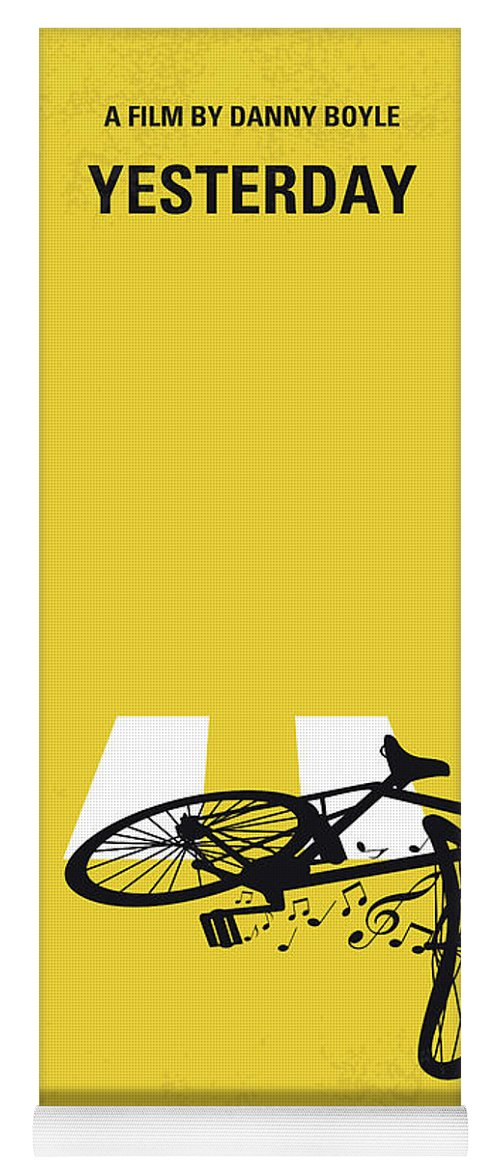 Yesterday Yoga Mat featuring the digital art No1106 My Yesterday Minimal Movie Poster by Chungkong Art