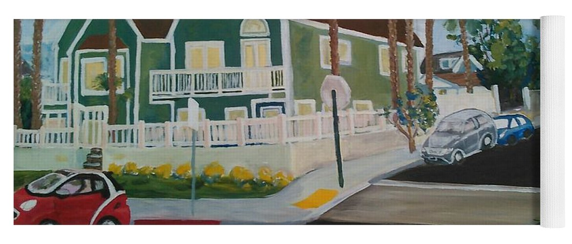 Painting Yoga Mat featuring the painting OB House by Andrew Johnson