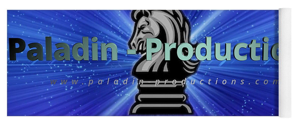 Paladin Yoga Mat featuring the photograph Paladin Productions logo by Alan D Smith