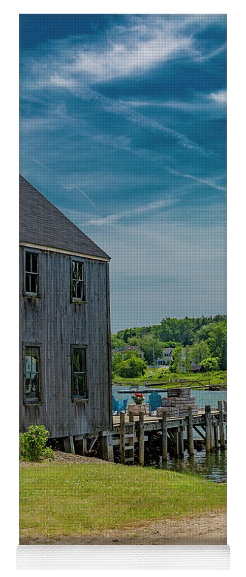 Kennebunkport Yoga Mat featuring the photograph Peaceful View Near Kennebunkport by Betsy Knapp