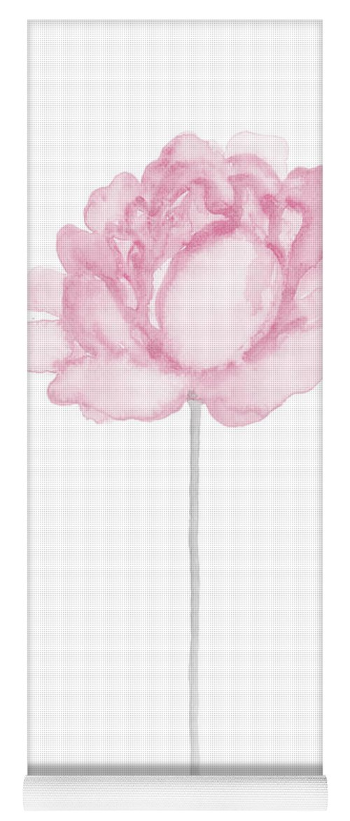 Peony Pink Yoga Mat featuring the painting Pink Peony Flower Poster by Joanna Szmerdt