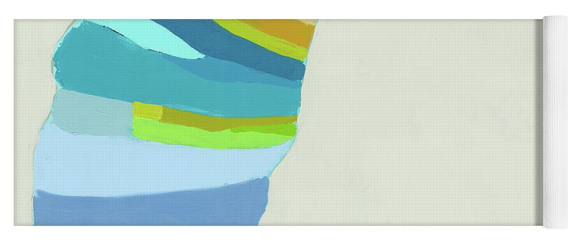 Abstract Yoga Mat featuring the painting Ready To Make A Splash by Claire Desjardins