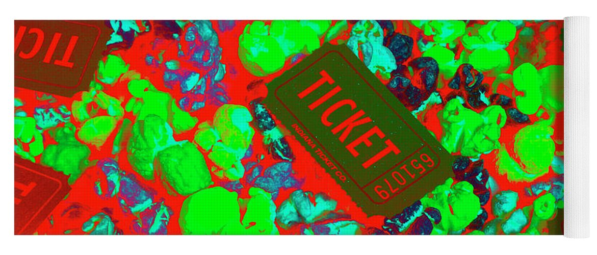 Ticket Yoga Mat featuring the photograph Red Hot Tickets by Jorgo Photography - Wall Art Gallery