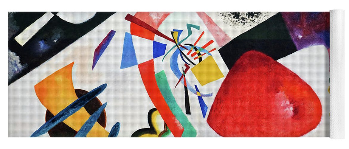 Red Spot Ii Yoga Mat featuring the painting Red Spot II - Digital Remastered Edition by Wassily Kandinsky