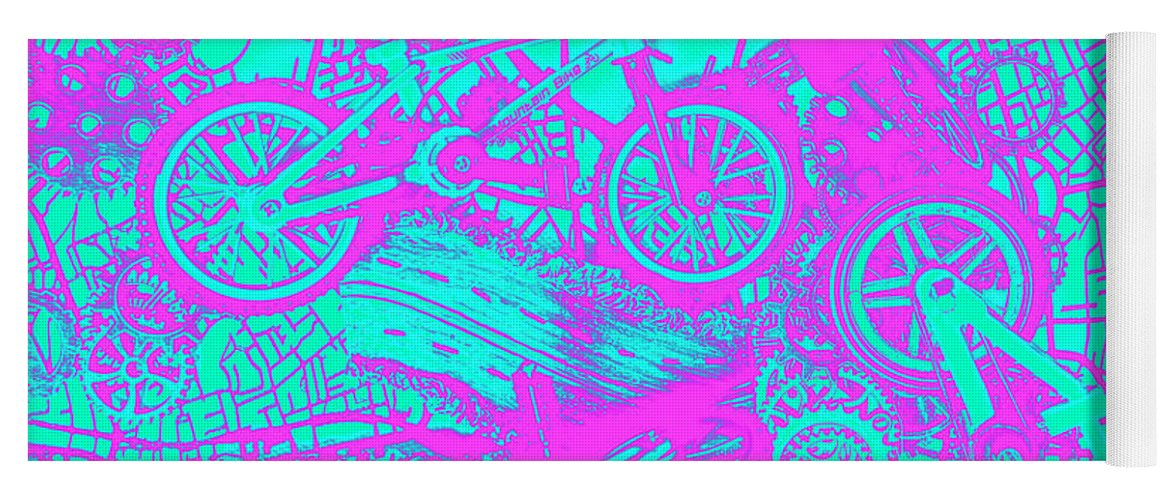 Urban Yoga Mat featuring the photograph Riding Retro Routes by Jorgo Photography - Wall Art Gallery