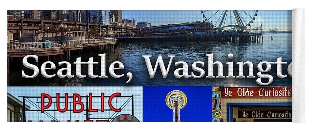 Seattle Yoga Mat featuring the photograph Seattle Washington Waterfront 01 by G Matthew Laughton
