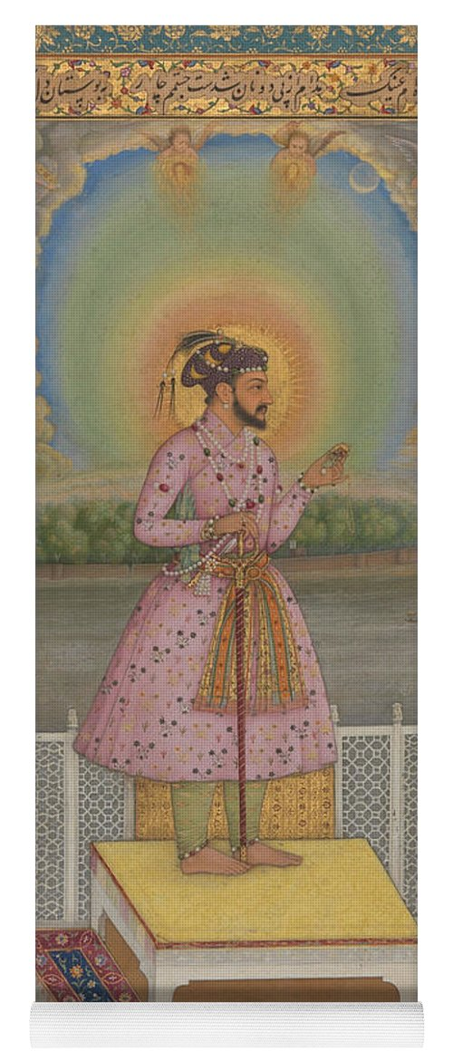 Indian Yoga Mat featuring the painting Shah Jahan On A Terrace by Chitarman