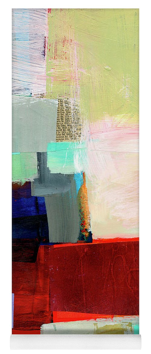Abstract Art Yoga Mat featuring the painting Shoreline #12 by Jane Davies