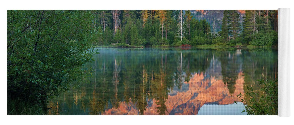 00574849 Yoga Mat featuring the photograph Sierra Buttes From Sand Pond, Tahoe National Forest, California by Tim Fitzharris