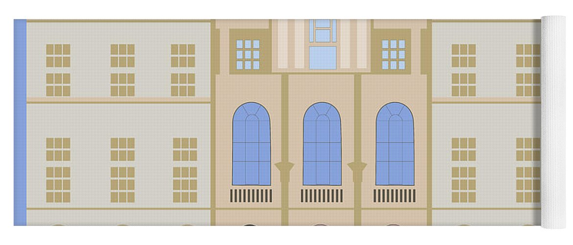 Blue Yoga Mat featuring the digital art Sir John Soane's Museum by Claire Huntley