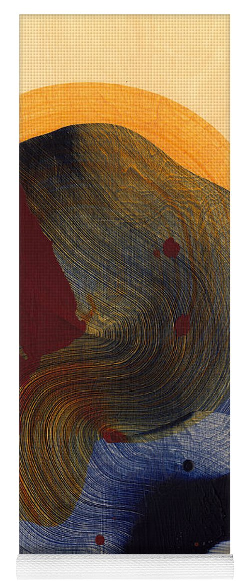 Abstract Yoga Mat featuring the painting Socal 03 by Claire Desjardins