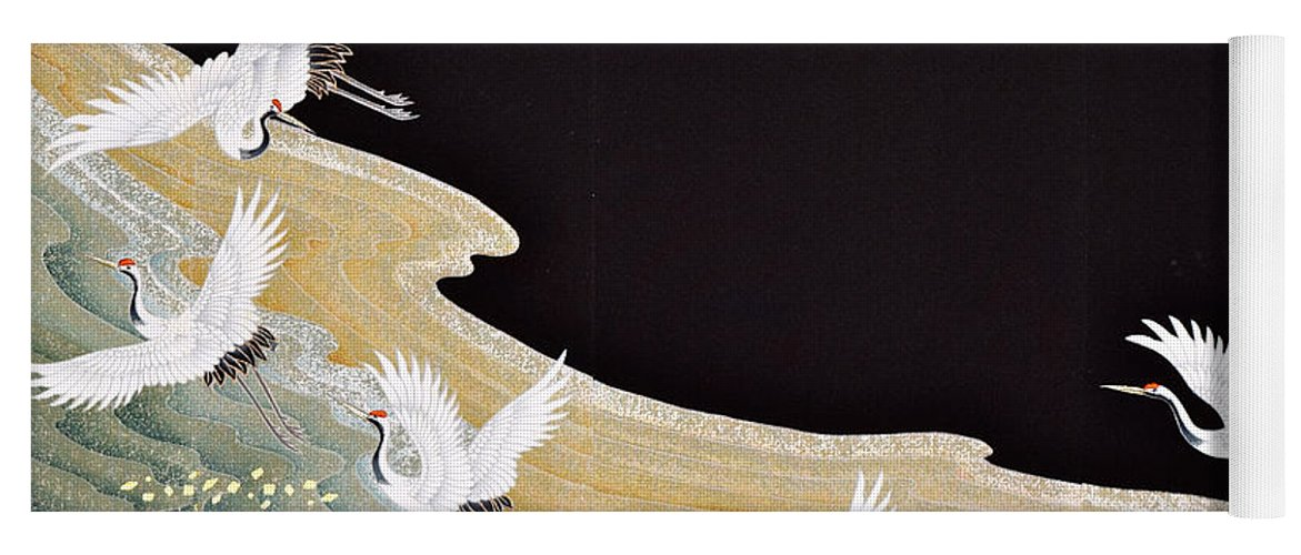 Yoga Mat featuring the digital art Spirit of Japan T1 by Miho Kanamori