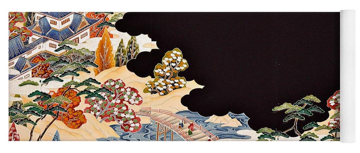 Yoga Mat featuring the digital art Spirit of Japan T11 by Miho Kanamori
