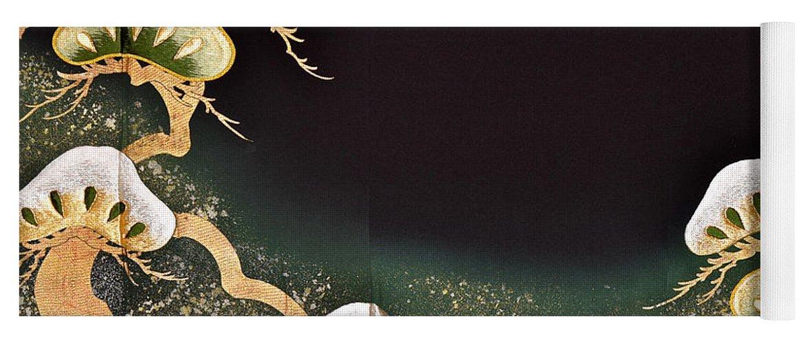 Yoga Mat featuring the digital art Spirit of Japan T2 by Miho Kanamori