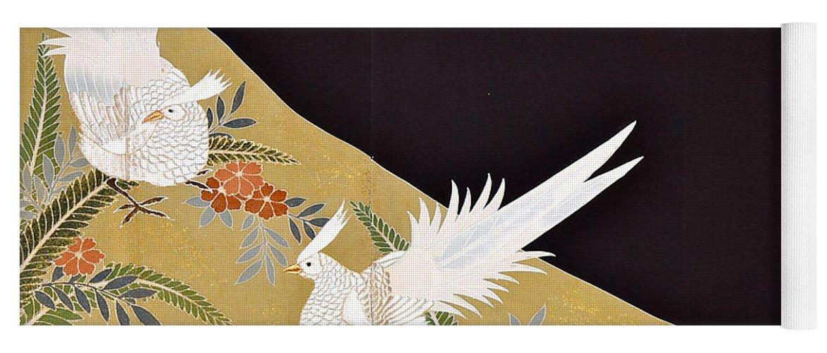 Yoga Mat featuring the digital art Spirit of Japan T28 by Miho Kanamori