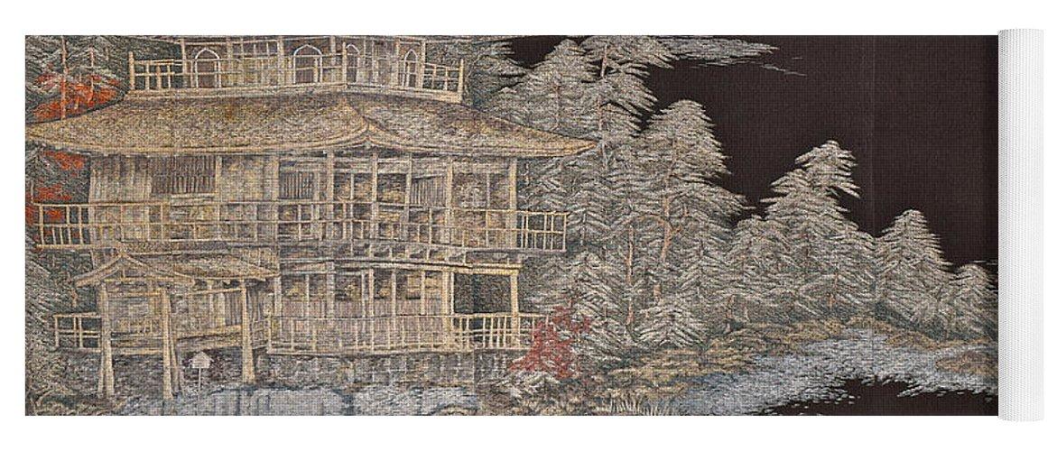 Yoga Mat featuring the digital art Spirit of Japan T36 by Miho Kanamori