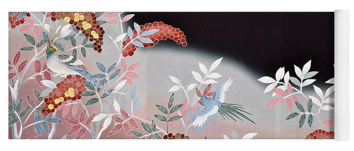 Yoga Mat featuring the digital art Spirit of Japan T47 by Miho Kanamori