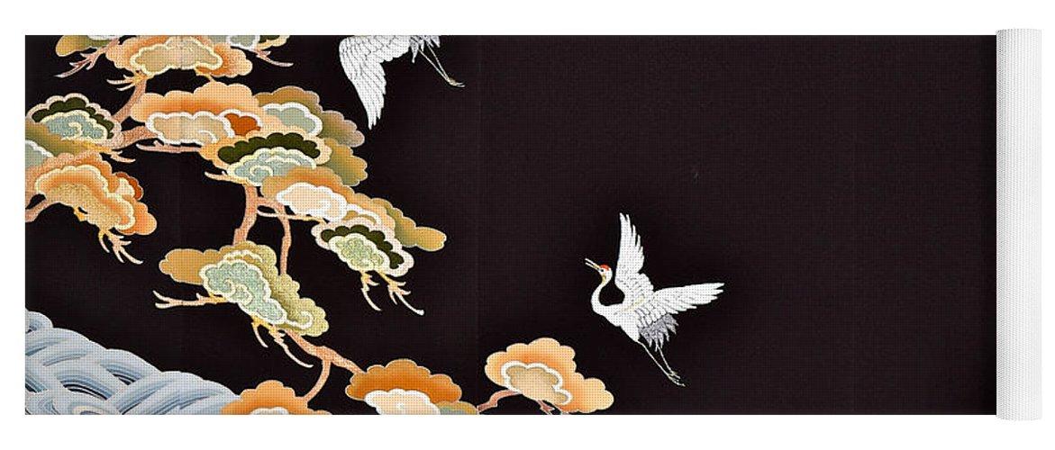 Yoga Mat featuring the digital art Spirit of Japan T49 by Miho Kanamori
