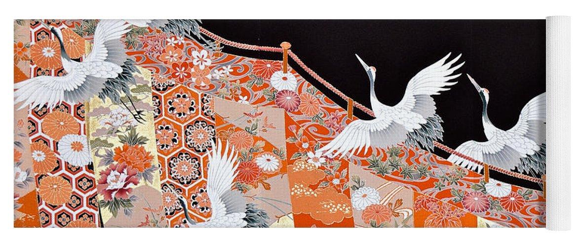Yoga Mat featuring the digital art Spirit of Japan T60 by Miho Kanamori