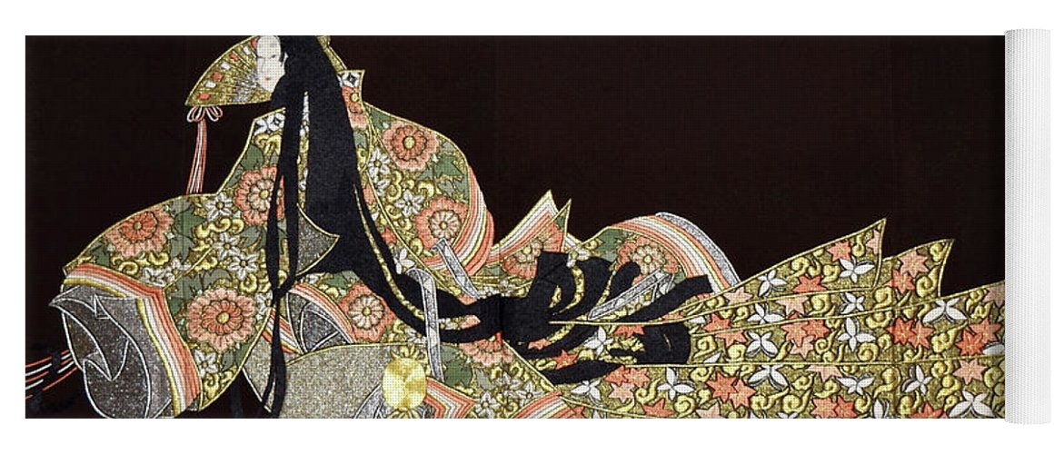 Yoga Mat featuring the tapestry - textile Spirit of Japan T91 by Miho Kanamori